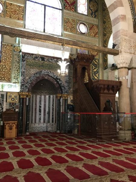 Niche toward Mecca and Minbar