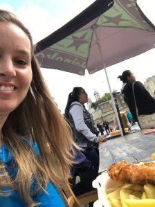 15 Tower of London Fish and Chips Selfie