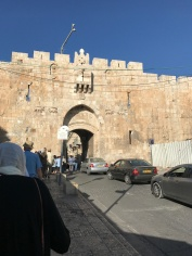 We approached the Old City from the east and entered through the Lion's Gate,bypassing security checkpoints. This gate is reserved for dignitaries and VIPs.