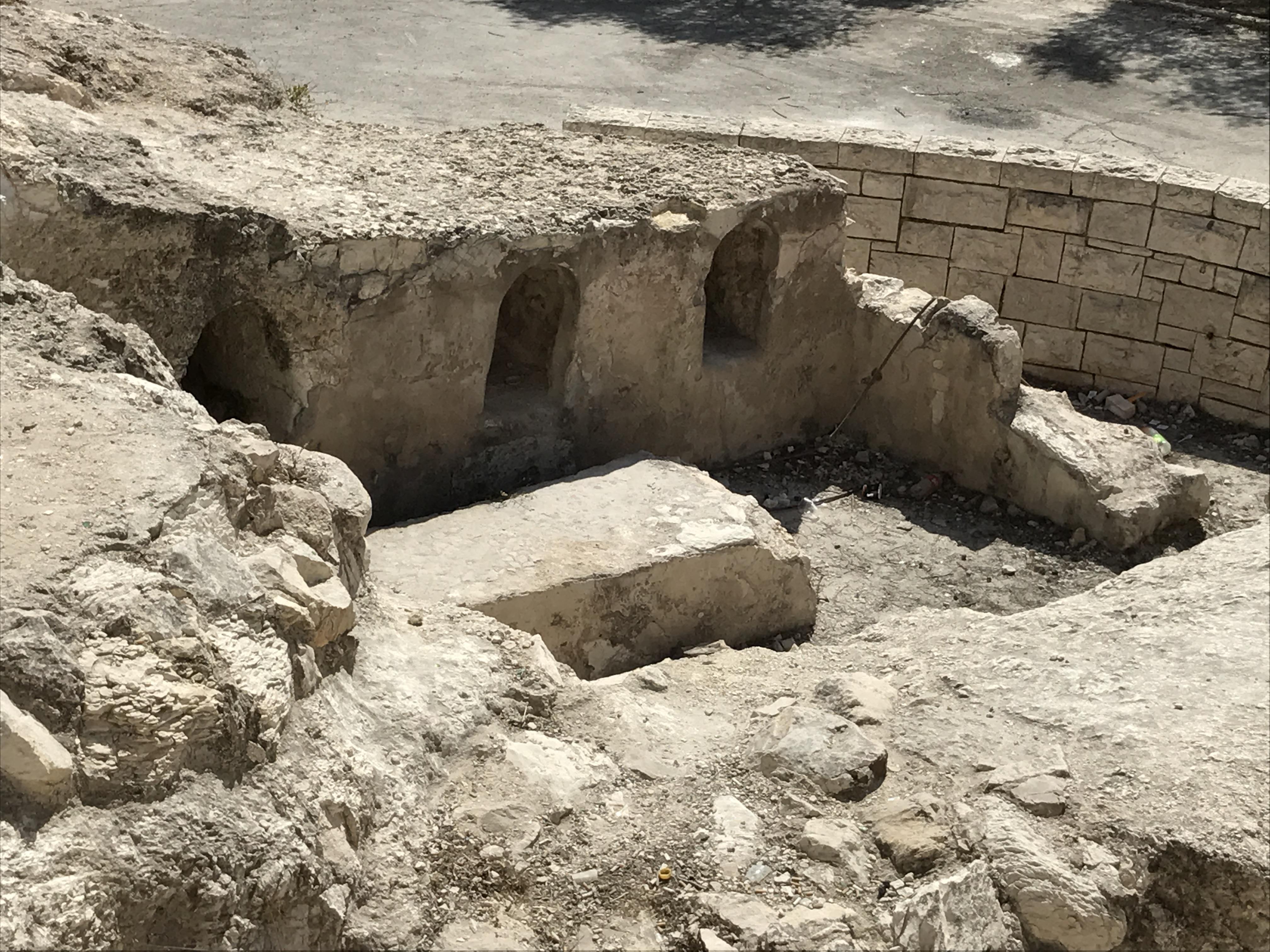 Excavated Tomb at Hebrew Univeristy