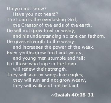 Isaiah 40.28-31